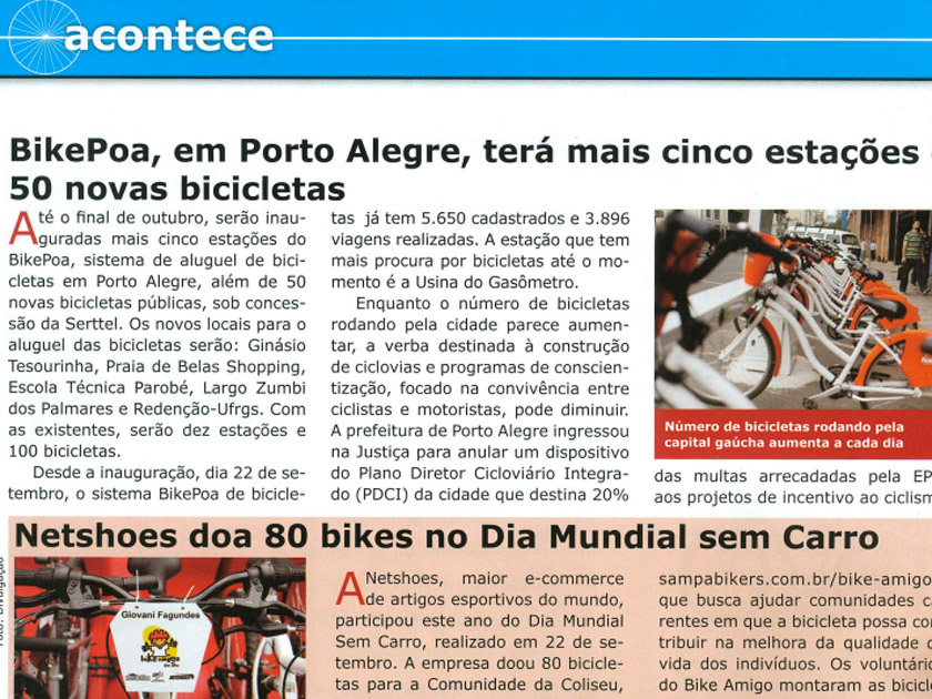 Revista Bicycle – Acontece – Bike Amigo