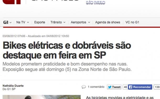 Porto Globo.com – Bike Expo Brasil – Bicicletas elétricas são destaque em feira em São Paulo