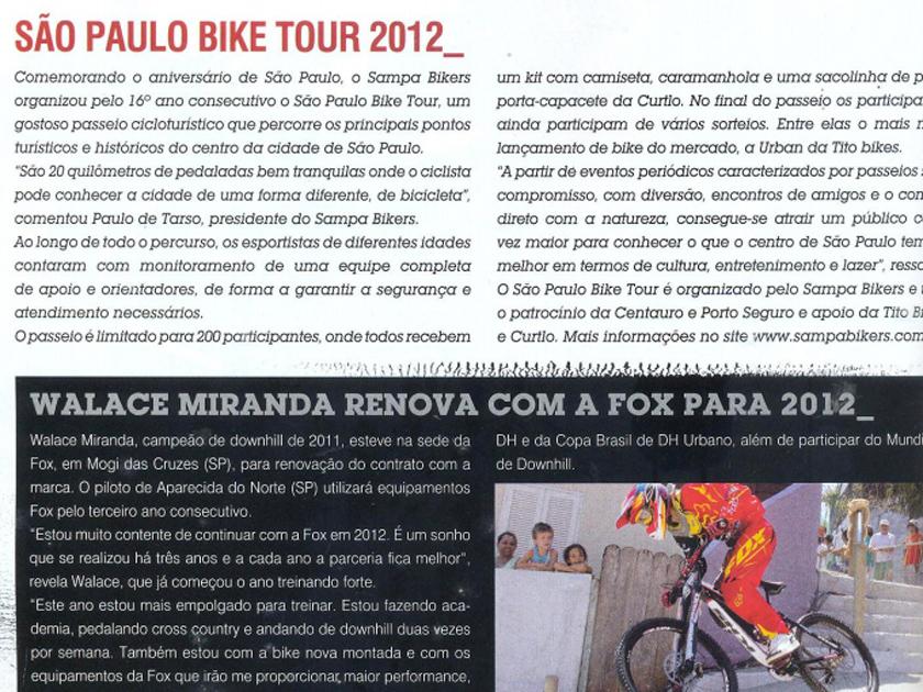 Revista Bike Action nº 138 – Up Date – São Paulo Bike Tour 2012