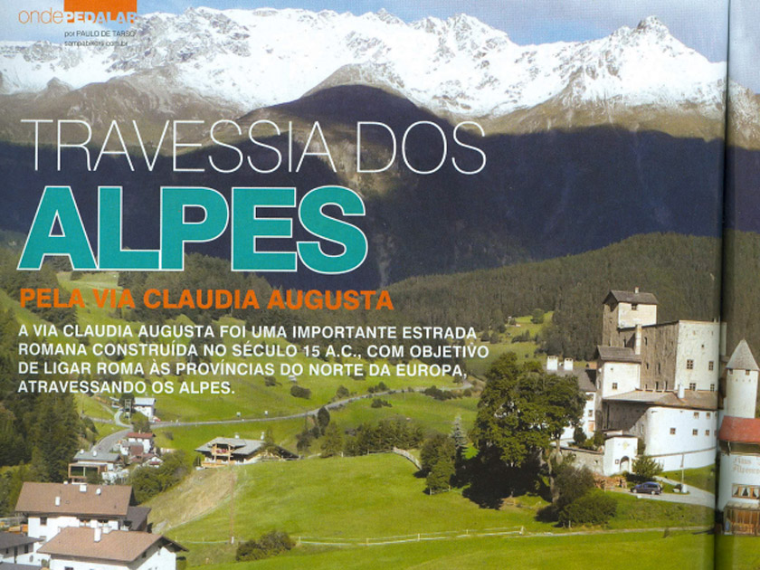 Revista Bike Action – Onde Pedalar: Travessia dos Alpes pela Via Claudia Augusta