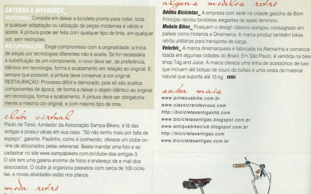 Revista Bike Action  – Orgulho de ser Vintage
