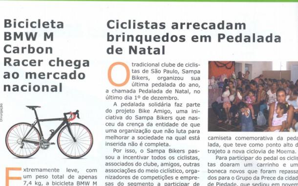 Revista Bicycle 184 – acontece – Ciclistas arrecadam brinquedos