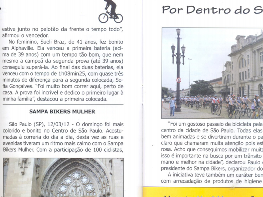 Revista Bici News 43 – por dentro do setor – Sampa Bikers Mulher