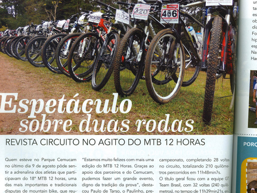 Revista Circuit  – Esporte: MTB 12 horas – Espetáculo Sobre Rodas