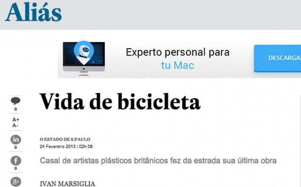 Jornal Estado de São Paulo – 25 de Fevereiro – Vida de Bicicleta