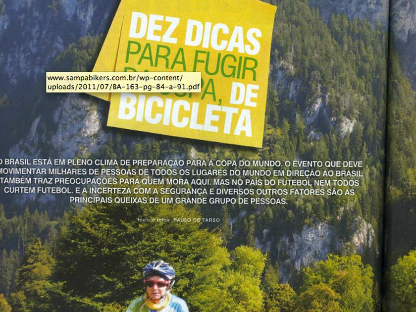 Revista Bike Action – 10 dicas para fugir da Copa de Bicicleta