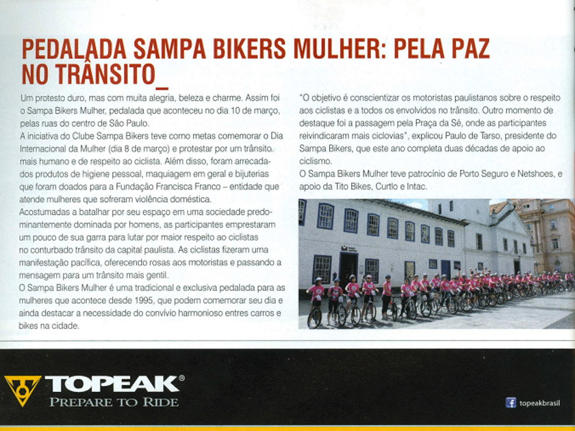 Revista Bike Action – Up Date – Sampa Bikers Mulher